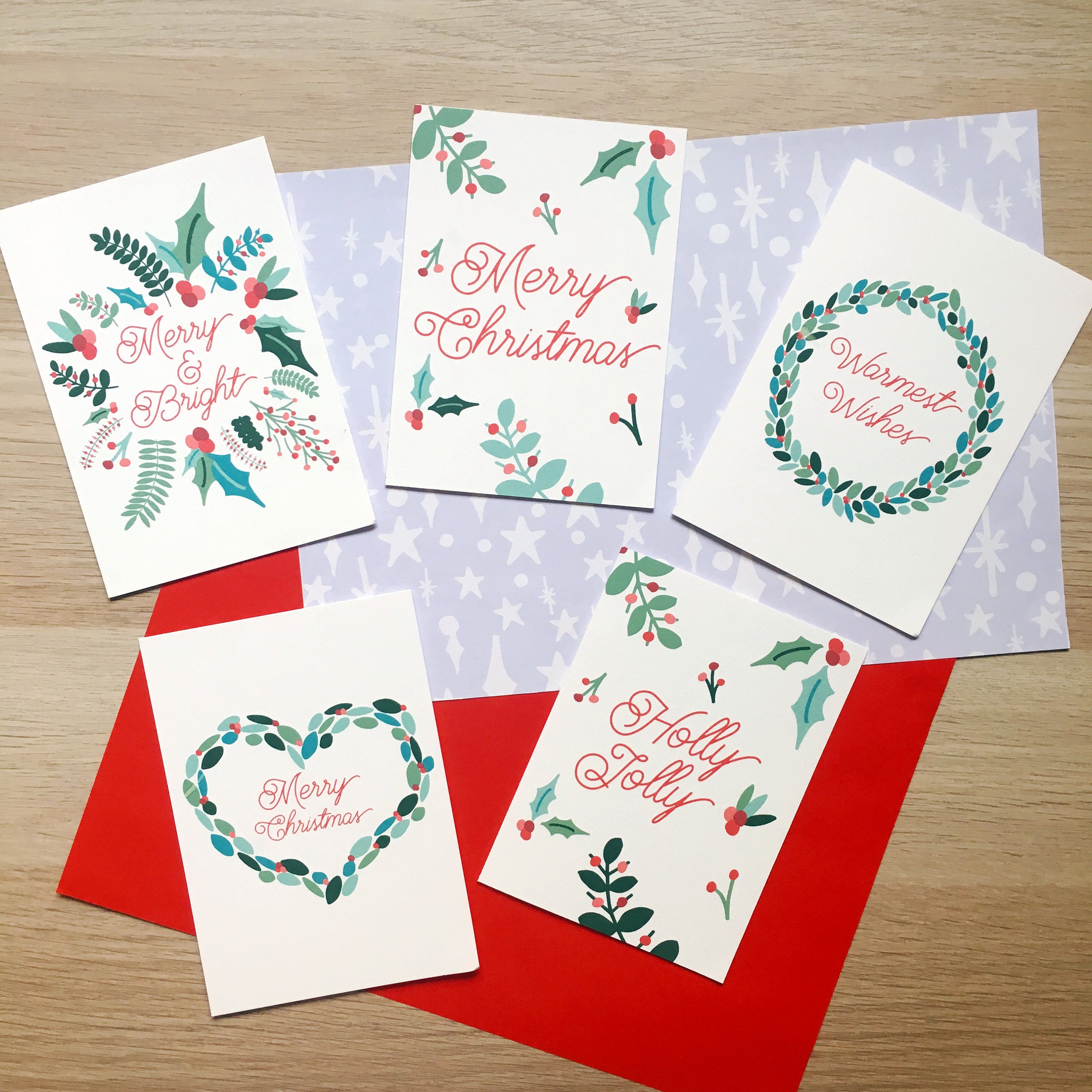 Charity Illustrated Jolly Christmas Cards Pack Of 10festive