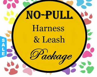Sale - 40% Off No Pull Harness & Leash Package - Dog Harness Set - Available in all Dog Collar Listings - Fabric name