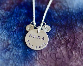 Mama Necklace - Initials - Mom Necklace - Mom Necklace - New Mom Gift - Mommy Necklace - Gifts For Mom - Initial Jewelry - Mama Jewelry