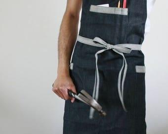Denim apron, mens apron, workmans apron