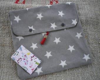 Grande pochette carré en coton, pochette tissu. une trousse pour votre sac.
