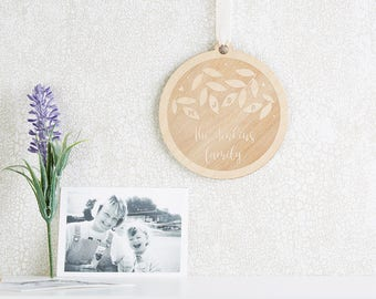 Family Tree Wooden Decoration Gift