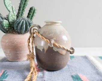 Vintage Studio Pottery Jug with Rope