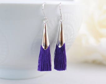 The Delia Earrings - Purple