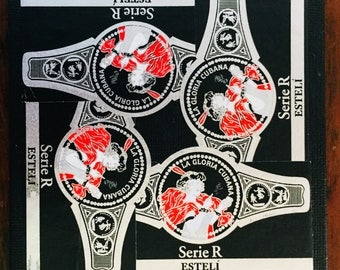 2017 Cigar Band Collage Coaster: Esteli Lady in Red