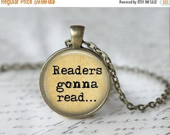 SUMMER SALE Library Book Necklace - Librarian Pendant - Gifts for Readers - Bibliophile Necklace - Reading Pendant - Literacy Jewelry 174