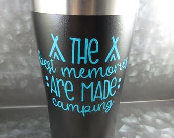Travel coffee mug BPA Free camping mug camping gear happy camper building memories family travel mug vacation family vacation