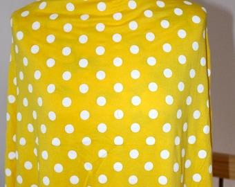 Coupon 155x170cm medium dots yellow Jersey