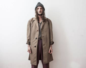 Hunting Field Jacket 70s Coat Fall Season Leisure Wear Autumn Outerwear Brown Coat Trench Double Breasted Veste Pour Homme