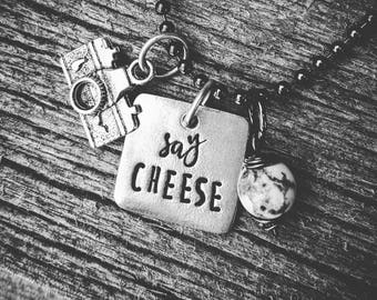 Photography Necklace; Say Cheese
