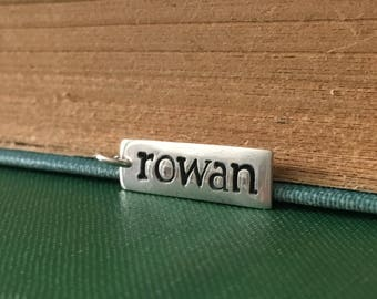 Silver Personalized Name Charm Pendant