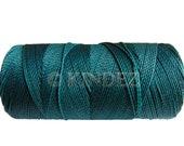 Waxed Cord, Macrame Thread Linhasita Cord - 15 meters/16 yards, String for beading, Macrame Cord Supplies - Teal