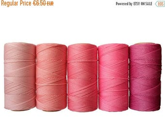 ON SALE Waxed Cord, 50 meters Linhasita Macrame Cord, Bracelet Thread - Bubblegum