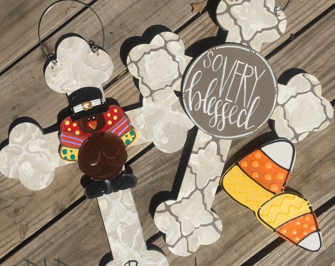 Thanksgiving and fall door hanger attachments