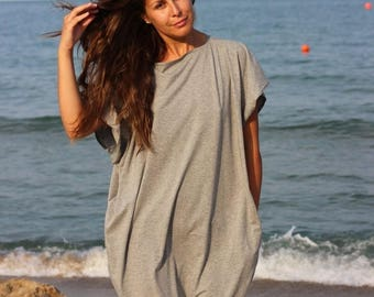 SALE ON 20 % OFF Grey Maxi Dress, Caftan, Plus size dress, Abaya, Kaftan, Plus size clothing , Oversized dress, Dress with pockets, Long dre