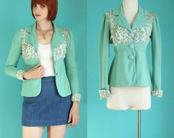 Mint green jacket | Etsy