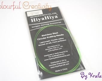 80cm - Hiyahiya Steel circular knitting needles