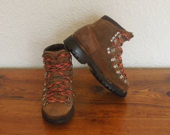 Vintage Dexter Hiking Boots Mountaineering Suede