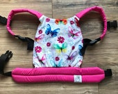 Pink Watercolor Butterflies Baby Doll Carrier