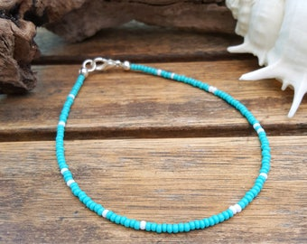 sea foam and white anklet beach wear surfing aqua blue ocean vacation holiday wear