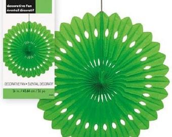 Hanging fan 360 40cm green paper rosette