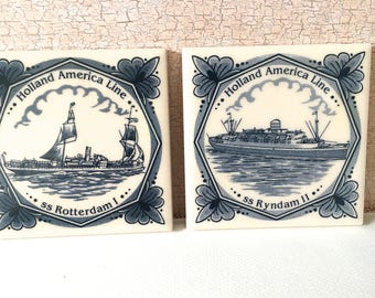 Holland American cruise line, Commemorative delft tiles,Cruise memorabilia,Holland America delft tile