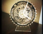 Bicycle Desk Clock, Unique Housewarming Gift For Men, Wedding Gift From Bride To Groom, Anniversary Gift For Dad, Man Cave Desk Clock