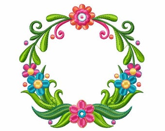 Floral Wreath with Monogram - Custom Tee 6