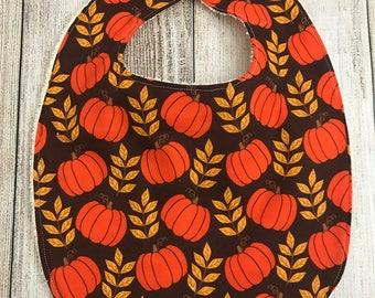 Pumpkin Fall/Thanksgiving Bib