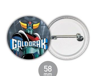 "Cartoon ""Goldorak"" 58mm badge"