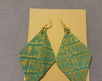 Cricut Cut Leather Earrings
