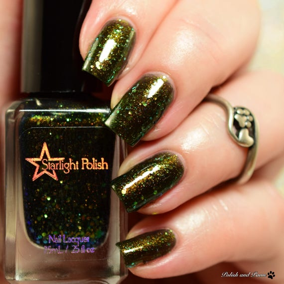 Dragon Aurora Night Black Iridescent Color Shifting Glitter Shimmer ...