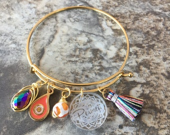 Gold bangles bracelet  by PERMEJI