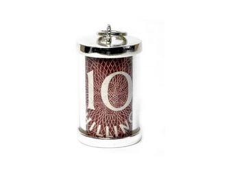Sterling Silver 10 Shilling Emergency Note Charm For Bracelets