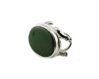 Sterling Silver Thank's Giving Bloodstone Turkey Fob Charm For Bracelets