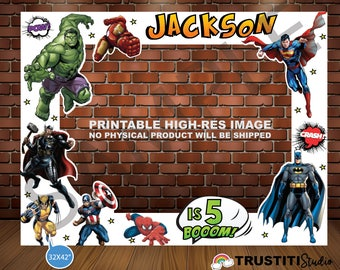 PHOTO BOOTH Frame Marvel / dc SUPERHEROES, Batman, Superman, Avengers, Hulk, Ironman, spiderman, Wolverine, Thor, Captain America