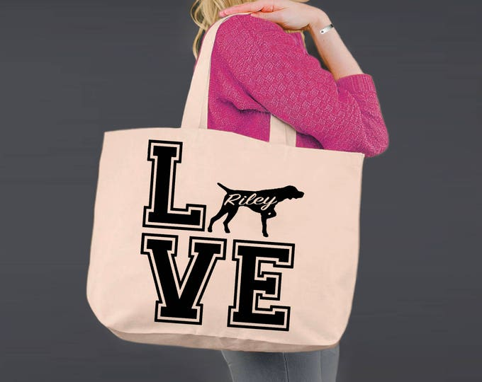 German Shorthaired Pointer | GSP | Dog Lover Gift | Tote Bag | Canvas Tote Bag | Canvas Tote | Shopping Tote | Dog Tote | Korena Loves
