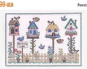 Fathers Day Sale Imaginating Bird Song Lane Cross Stitch Pattern
