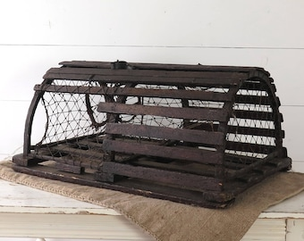 Vintage Lobster Trap, Authentic Wood Trap, Maine, Coastal Decor, Beach House