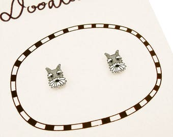 Schnauzer Earrings, Schnauzer Jewelry, Tiny Earrings, Schnauzer Jewellery, Dog Earrings, Dog Jewelry, Dog Jewellery, Shrink Plastic