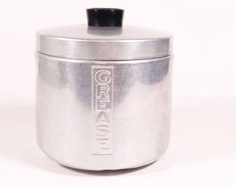 Pure Aluminum Grease Canister Grease Holder Kitchen Grease Catcher - Aluminum