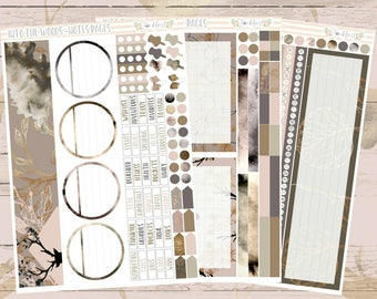 Into The Woods Notes Pages Planner Sticker Kit