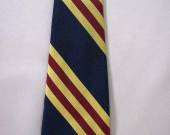 1960/70s Beau Brummell Striped  Necktie