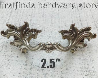 Good Shabby Chic Drawer Pull French Provincial Silver Or White Handle Furniture  Hardware Door Cupboard Original Cabinet 2.5inch ITEM DETAIL BELOW