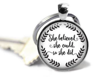 She believed she could - Graduation gifts - Business owner gift - Daughter gift - Inspirational gifts - Quote gifts - So she did
