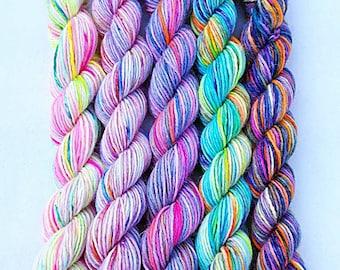 Handdyed Miniskeins, 75 Wool, 25 Nylon 100g 3.5 oz. #4