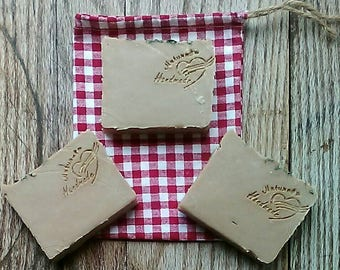 3 Pack Kudzu Blossom Goats' Milk Soap - Handcrafted Natural