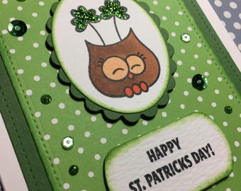 Owl St Patrick's Day Card