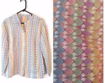 ON SALE Vintage Womens button down shirt jacket size 3X Plus multi colored
