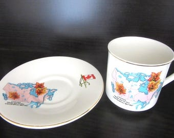 Canada Centennial Cup & Saucer 1867 - 1967 Lord Nelson Pottery Made In England